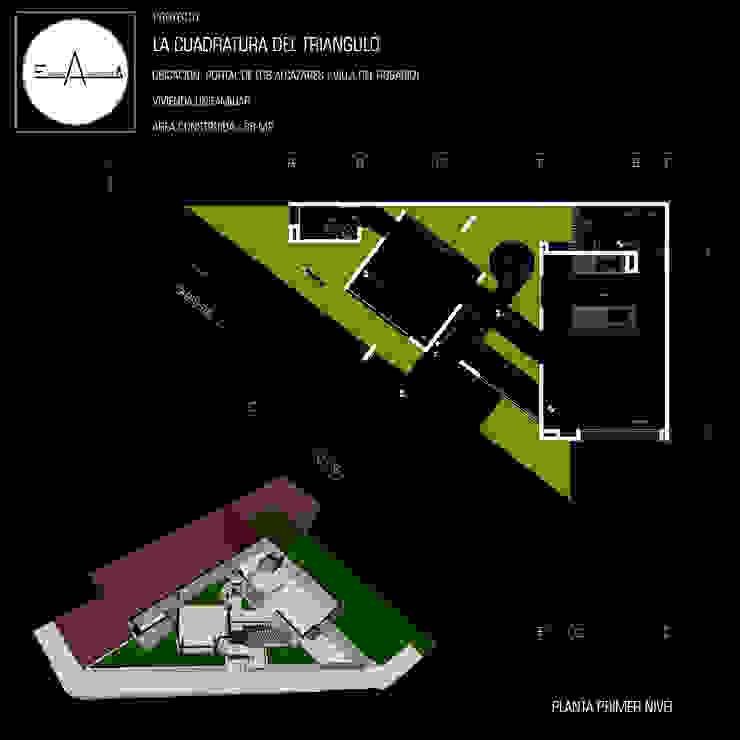 LA CUADRATURA DEL TRIANGULO de ESQUEMA ARQUITECTURA Minimalista Concreto