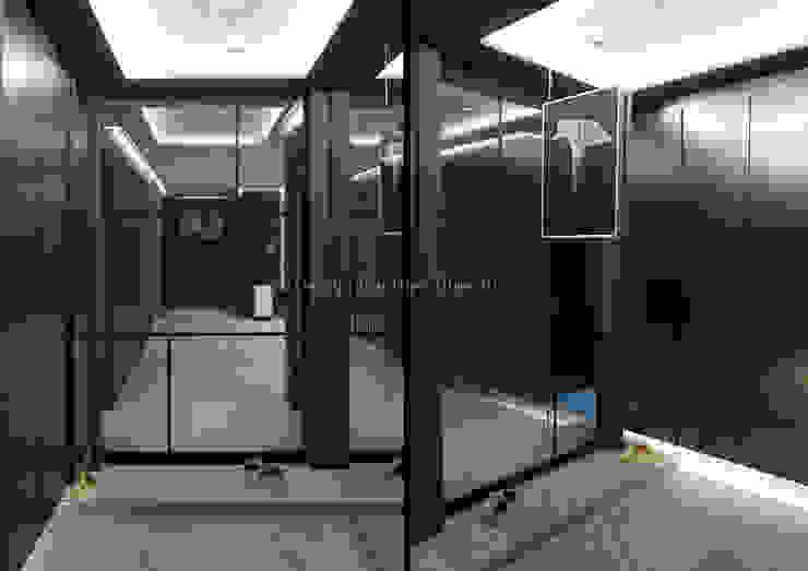 Pasillos, vestíbulos y escaleras de estilo moderno de Design Partner Blue box Moderno Azulejos