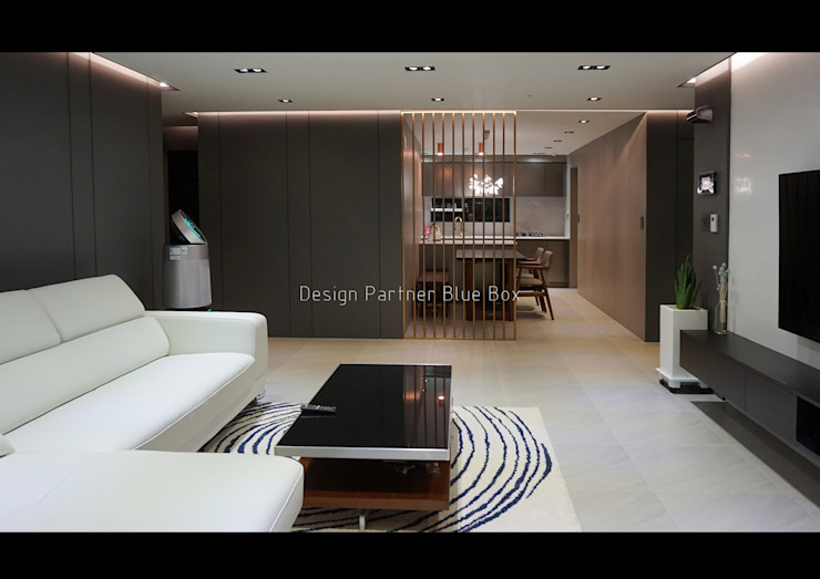 거실인테리어 모던스타일 거실 by Design Partner Blue box 모던 타일