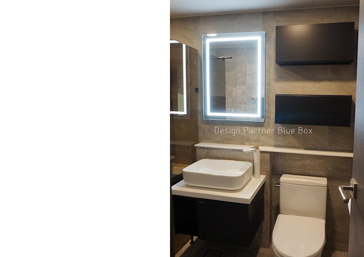 욕실 디자인 모던스타일 욕실 by Design Partner Blue box 모던