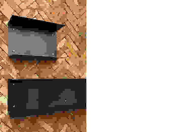 선반 인더스트리얼 서재 / 사무실 by Design Partner Blue box 인더스트리얼 벽돌