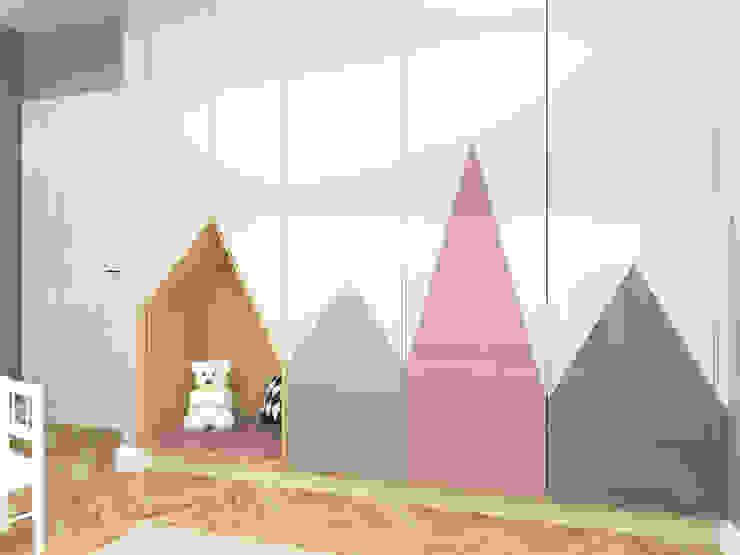 Mieszkanie na Woli Klasyczny pokój dziecięcy od ANNA HIRSZBERG 'HIRSZBERG' PRACOWNIA ARCHITEKTONICZNA Klasyczny