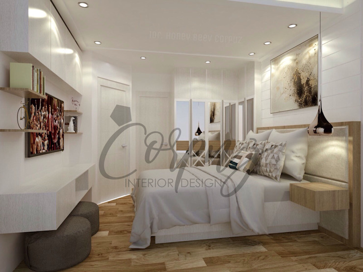 Modern Chic: Aesthetically functional Scandinavian style bedroom by Corpuz Interior Design Scandinavian