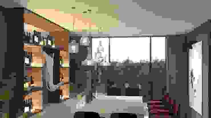 Diseño de bar para una vivienda privada: Electrónica de estilo  de Stockholm Barcelona Design - Interioristas en Barcelona