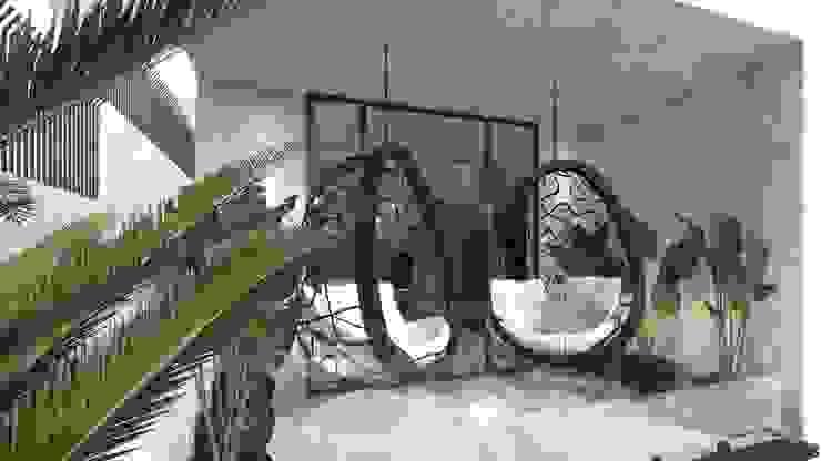 Diseño de bar y terraza para una vivienda privada: Electrónica de estilo  de Stockholm Barcelona Design - Interioristas en Barcelona
