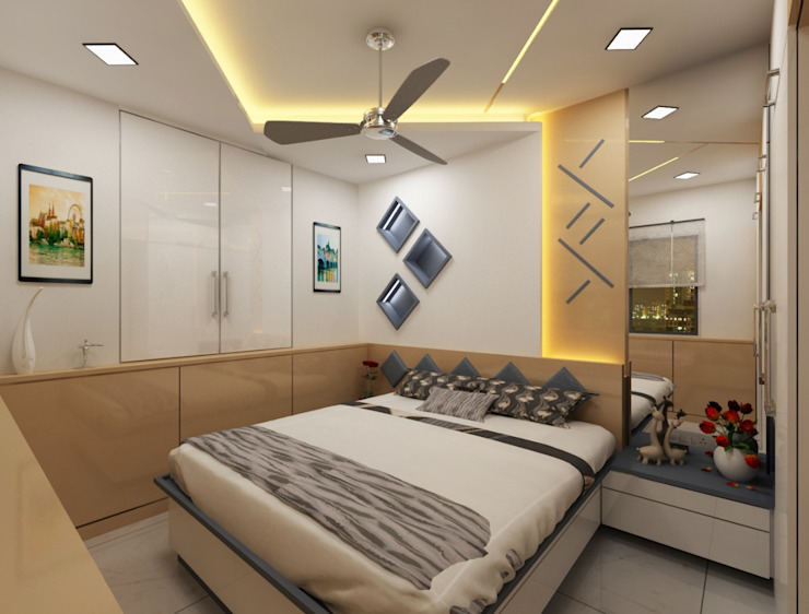 Bedroom Design Ideas Modern style bedroom by Square 4 Design & Build Modern