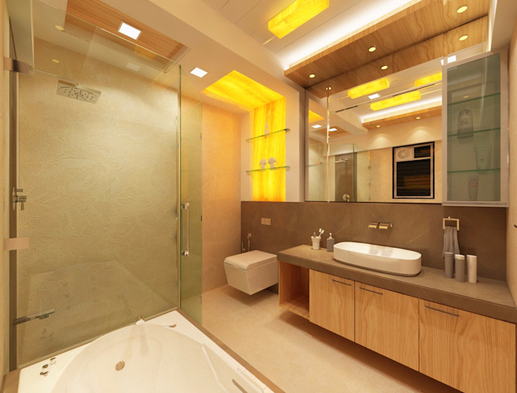 Bathroom Layout Modern bathroom by Square 4 Design & Build Modern