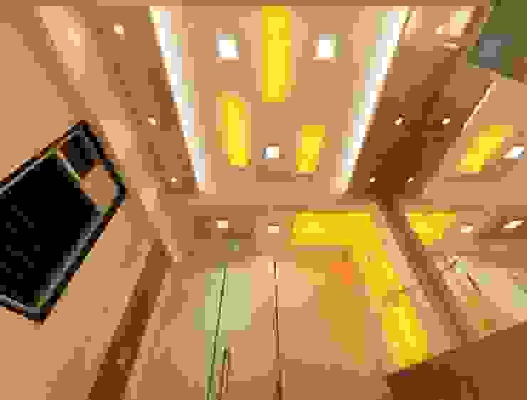 False Ceiling Ideas Modern corridor, hallway & stairs by Square 4 Design & Build Modern
