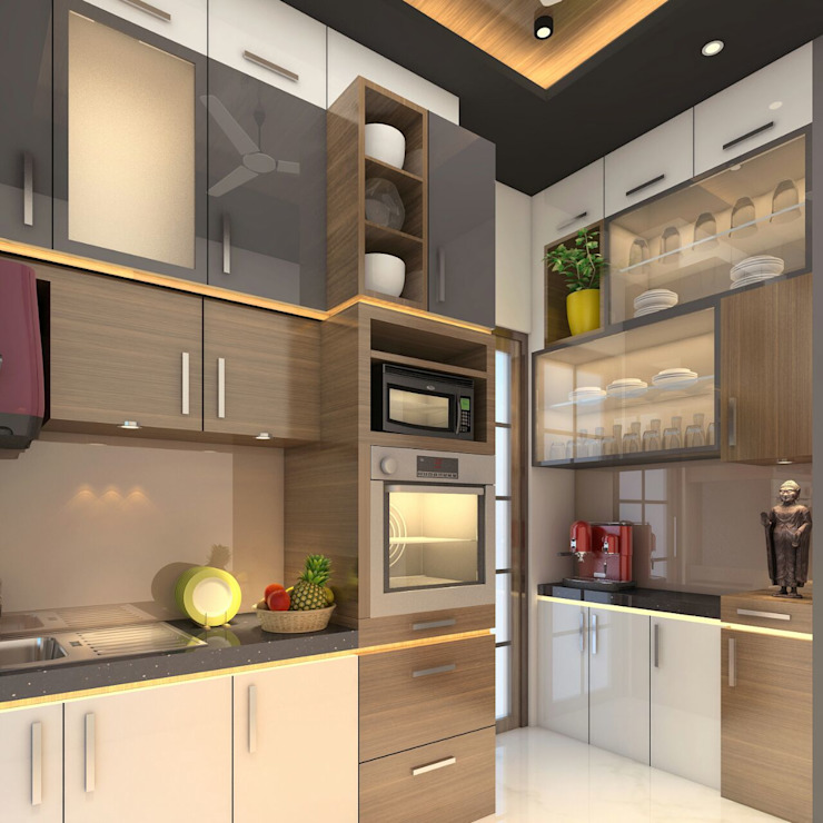 Kitchen Design ideas Square 4 Design & Build 現代廚房設計點子、靈感&圖片