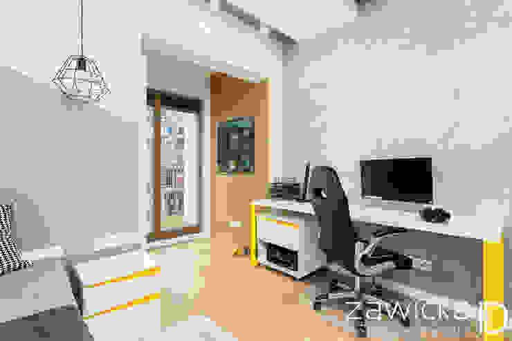 3 pokoje na Ursynowie od ZAWICKA-ID Projektowanie wnętrz Nowoczesny