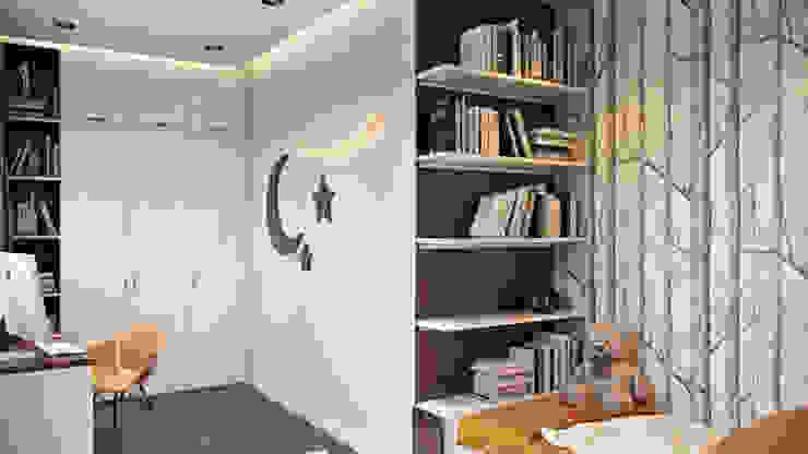 Квартира в ЖК «Лётчика Бабушкина 17» : Детские спальни в . Автор – 'INTSTYLE', Скандинавский Дерево Эффект древесины