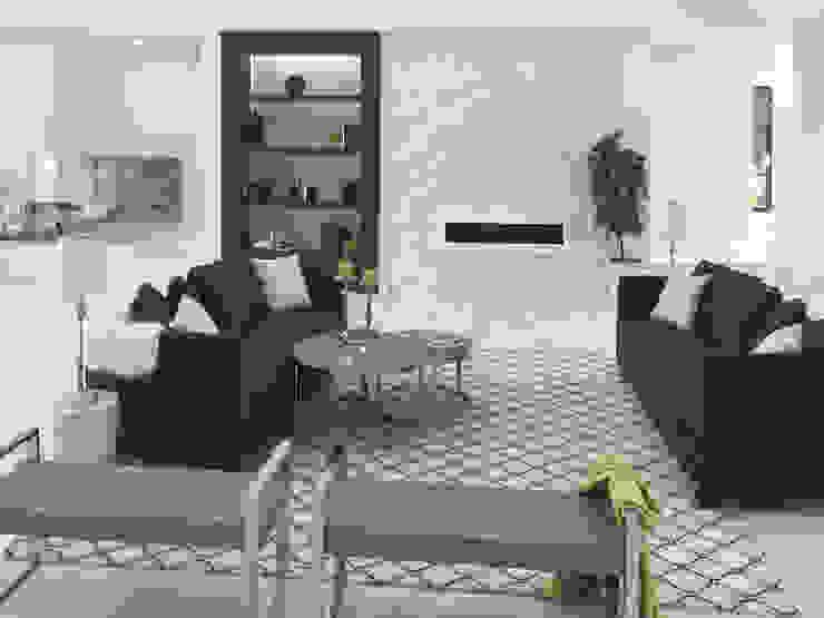 现代客厅設計點子、靈感 & 圖片 根據 Milestone 現代風