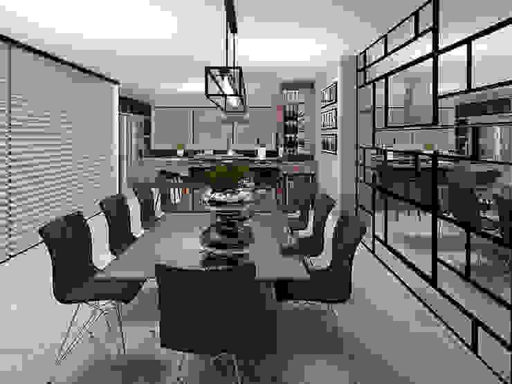 Mesa de Jantar: Cozinhas  por Projeto 3D Online,Moderno