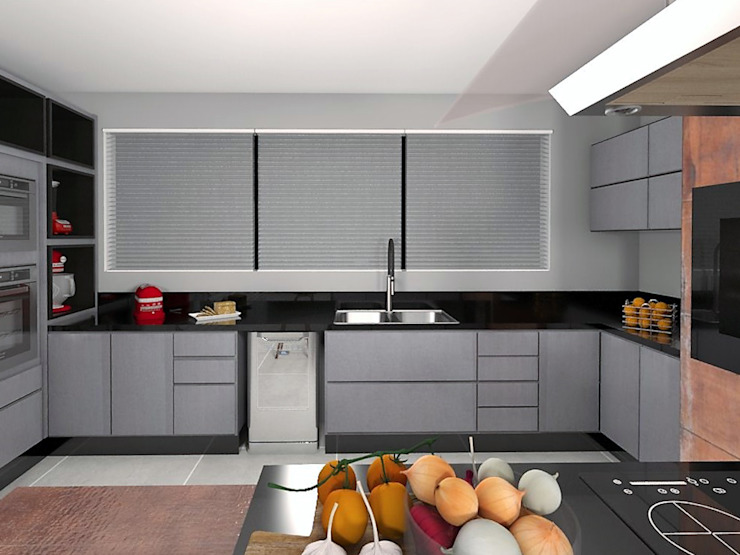 Bancada Ilha: Cozinhas  por Projeto 3D Online,Moderno