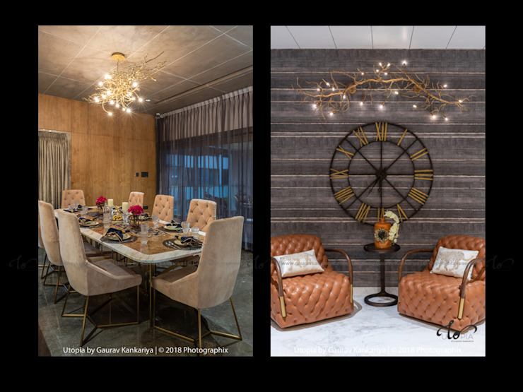 Modern dining room by Utopia by Gaurav Kankariya Modern