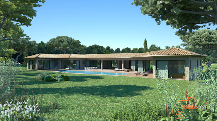 Render 3D - House view de Realistic-design Mediterráneo