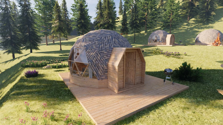 Mẫu thiết kế bungalow dome bởi Công ty TNHH Ông Kien