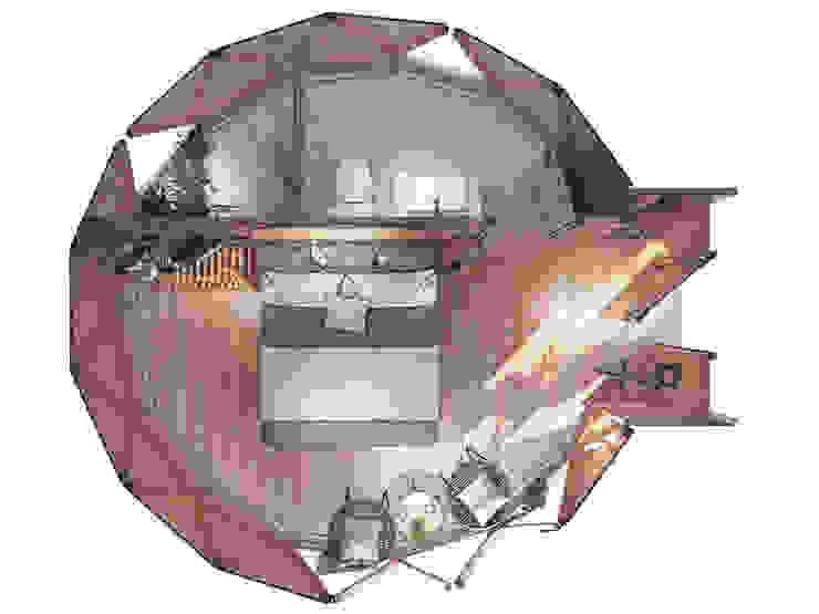 Mẫu thiết kế bungalow đơn 1 giường ngủ bởi Công ty TNHH Ông Kien