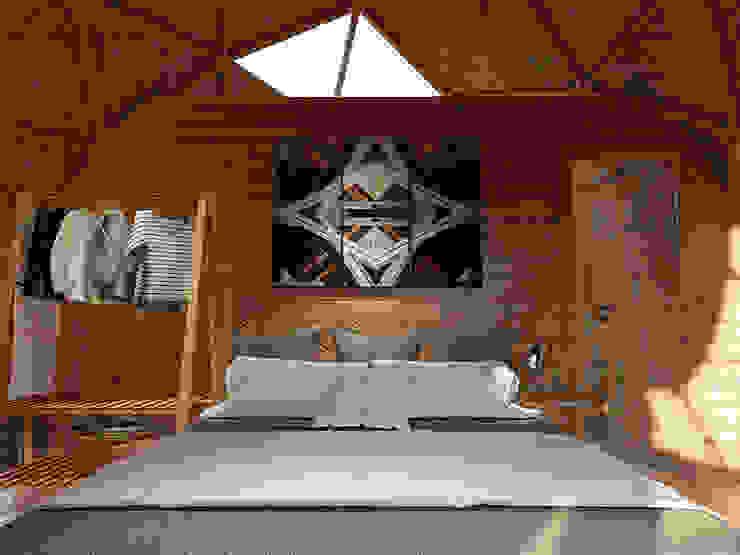 Phối cảnh nội thất bungalow dome 1 giường ngủ bởi Công ty TNHH Ông Kien