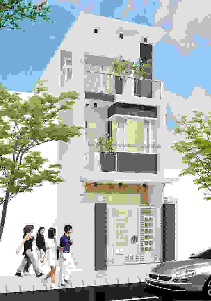 Mẫu thiết kế nhà đẹp hiện đại, trẻ trung bởi Thiết kế nhà đẹp ở Hồ Chí Minh