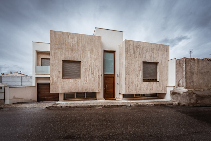 OOIIO Arquitectura Modern houses Stone Beige
