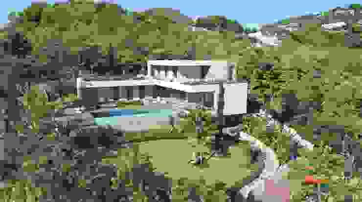 Render 3D - House view de Realistic-design Moderno