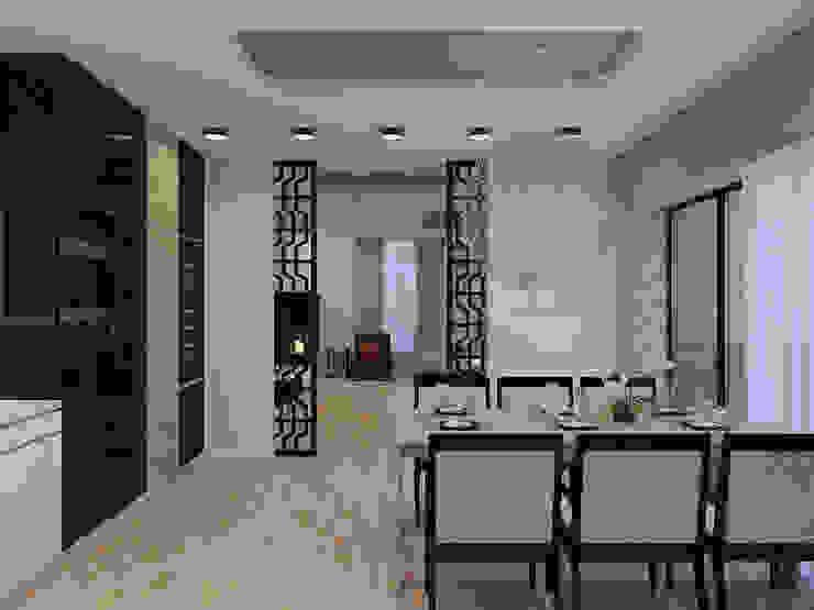 Частный дом в Юкках Гостиная в стиле минимализм от Wide Design Group Минимализм