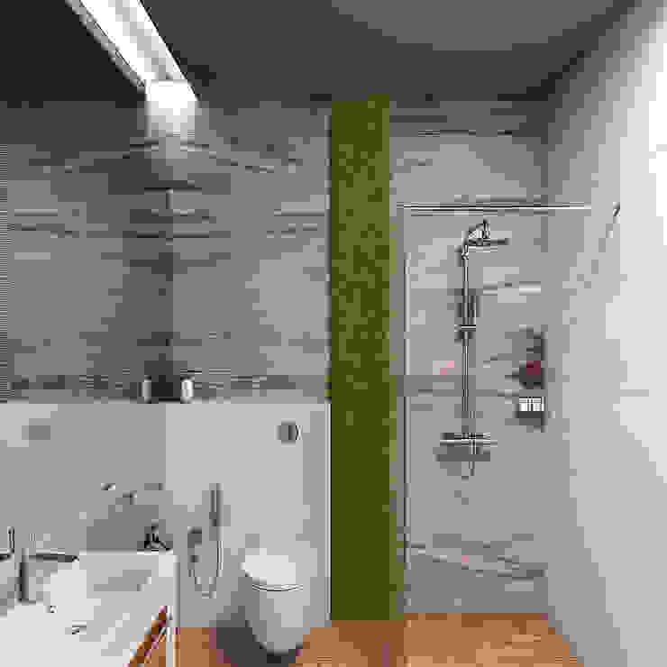 Частный дом в Юкках Ванная комната в стиле минимализм от Wide Design Group Минимализм