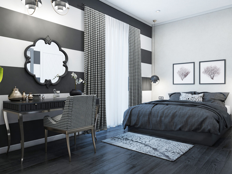 Eclectic style bedroom by Wide Design Group Eclectic