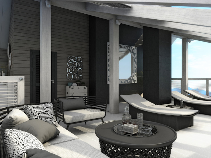 Colonial style balcony, veranda & terrace by Wide Design Group Colonial