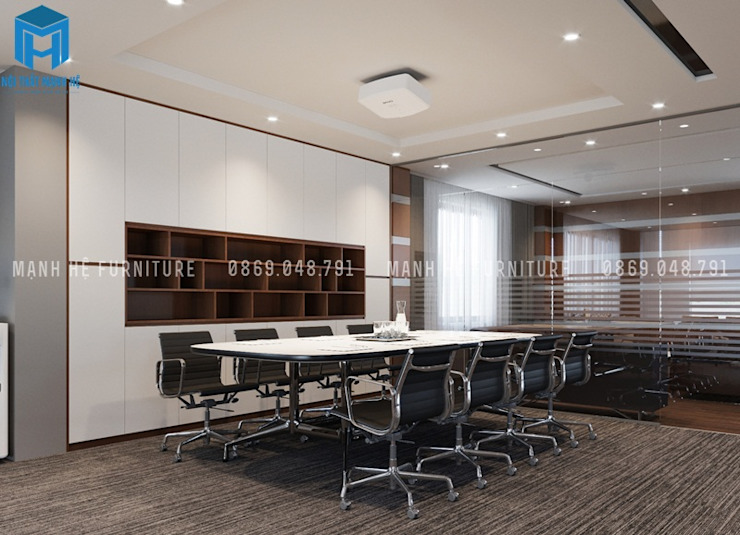 Designer Phòng học/văn phòng phong cách hiện đại bởi Công ty TNHH Nội Thất Mạnh Hệ Hiện đại OSB
