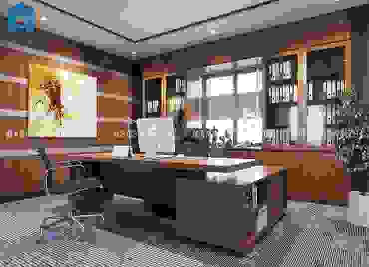 Designer Phòng học/văn phòng phong cách hiện đại bởi Công ty TNHH Nội Thất Mạnh Hệ Hiện đại Đá hoa