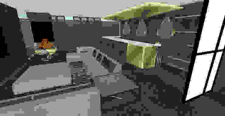 Bar-Lounge by Aquarii Designs Industrial Metal