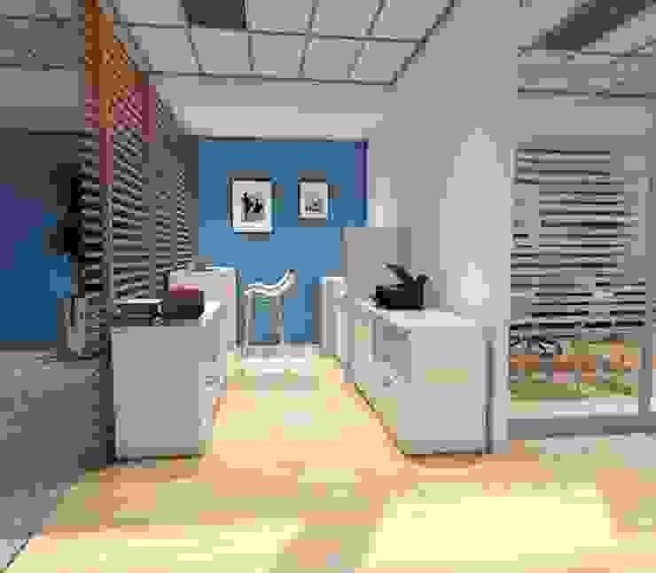 Renders Estudios y despachos modernos de GREAT+MINI Moderno Compuestos de madera y plástico