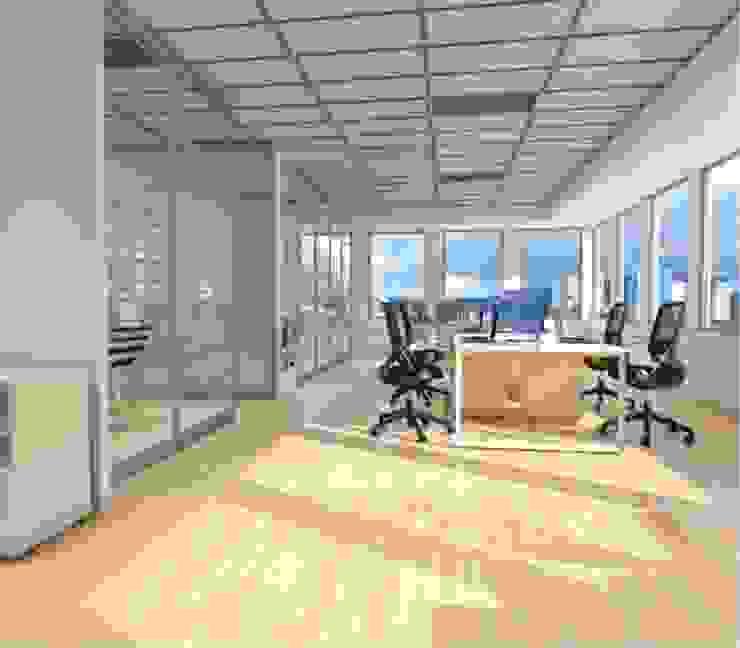 Renders - Espacios Abiertos Estudios y despachos modernos de GREAT+MINI Moderno Compuestos de madera y plástico