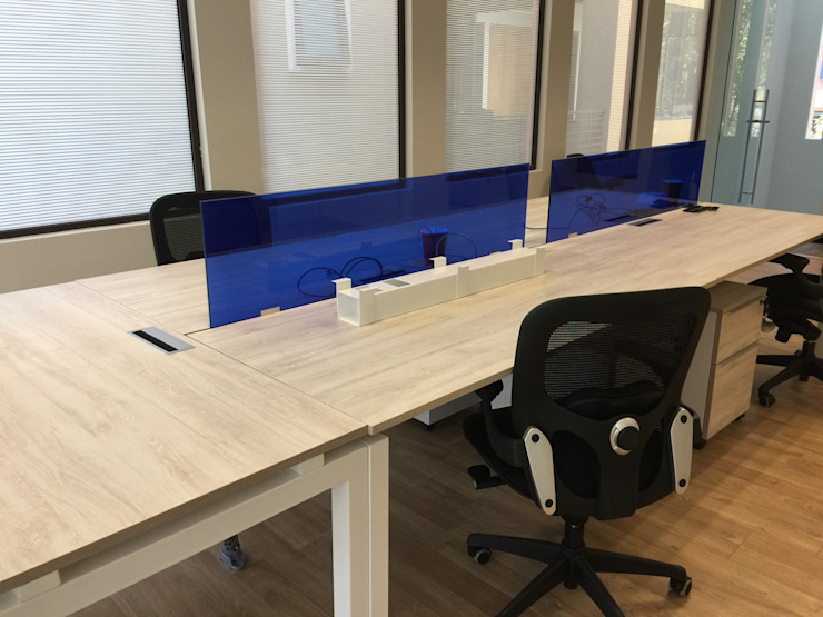 Renders - Benchings Estudios y despachos modernos de GREAT+MINI Moderno Compuestos de madera y plástico