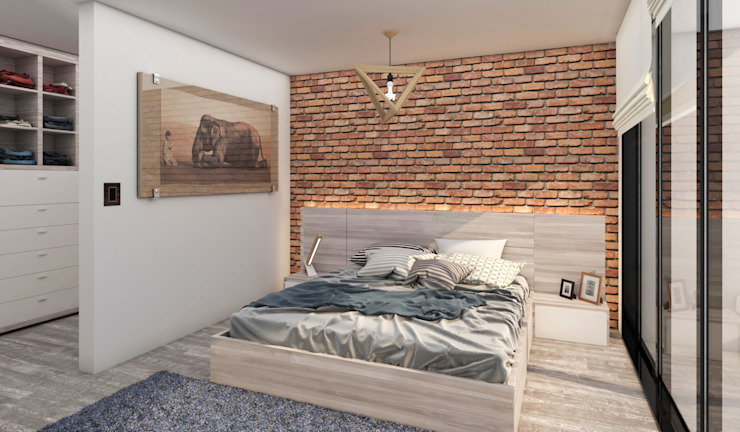 IVHER MANTENIMIENTO INTEGRAL SA DE CV Small bedroom Bricks White