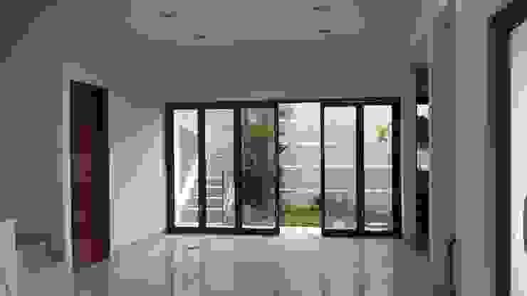 pintu folding lebar KuntArch Studio agoüj fjwd Aluminium/Seng
