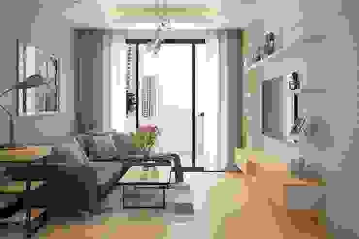 Thiết kế phòng khách hiện đại bởi NỘI THẤT XINH