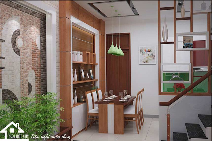 Không gian phòng ăn hiện đại bởi NỘI THẤT XINH