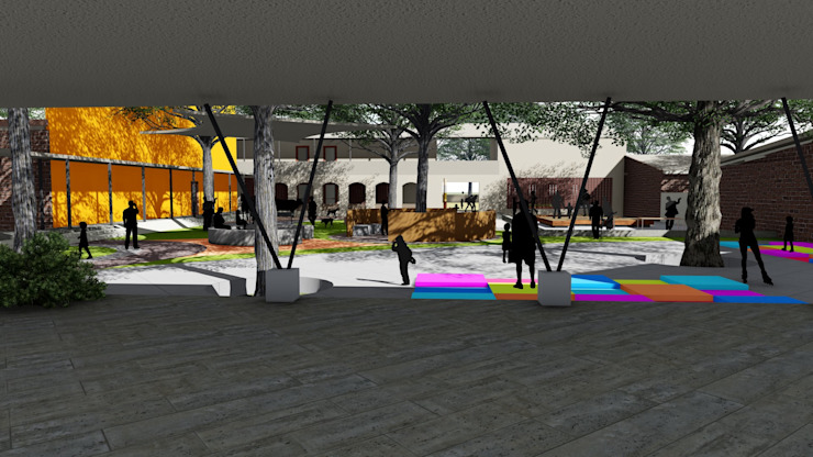 School for Visually Impaired Modern garden by Shreya Lakhankar Modern