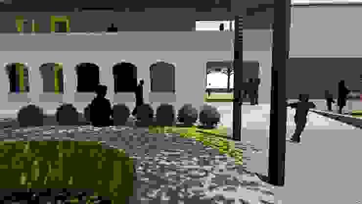 School for Visually Impaired Modern corridor, hallway & stairs by Shreya Lakhankar Modern Concrete