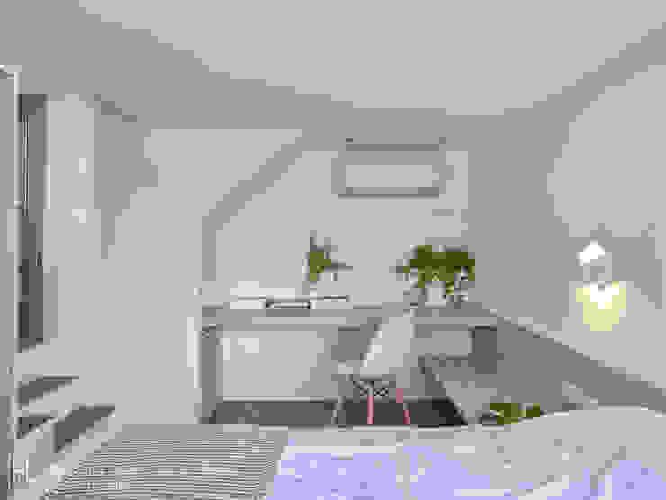 一樓臥房內部空間 根據 SECONDstudio 現代風