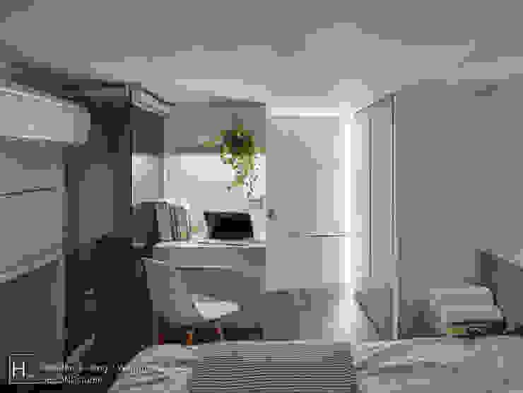 二樓臥房也延續一樓臥房的風格 根據 SECONDstudio 現代風