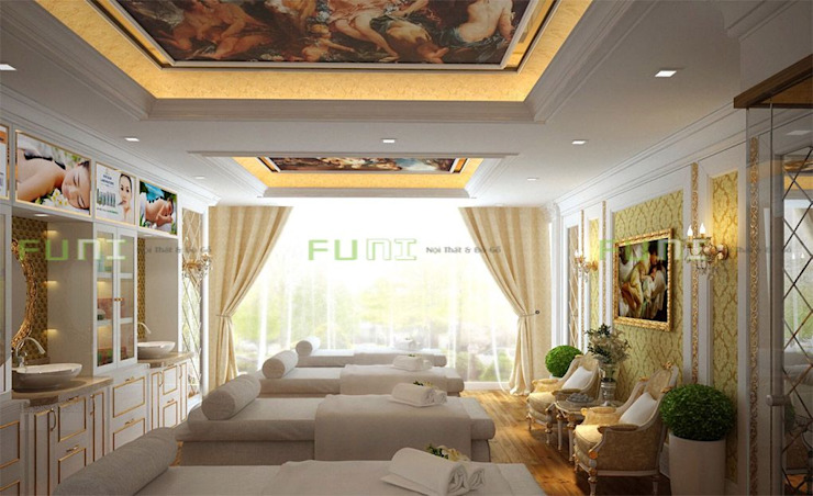 Thiết kế spa nhỏ xinh: hiện đại  by Công Ty TNHH Funi, Hiện đại
