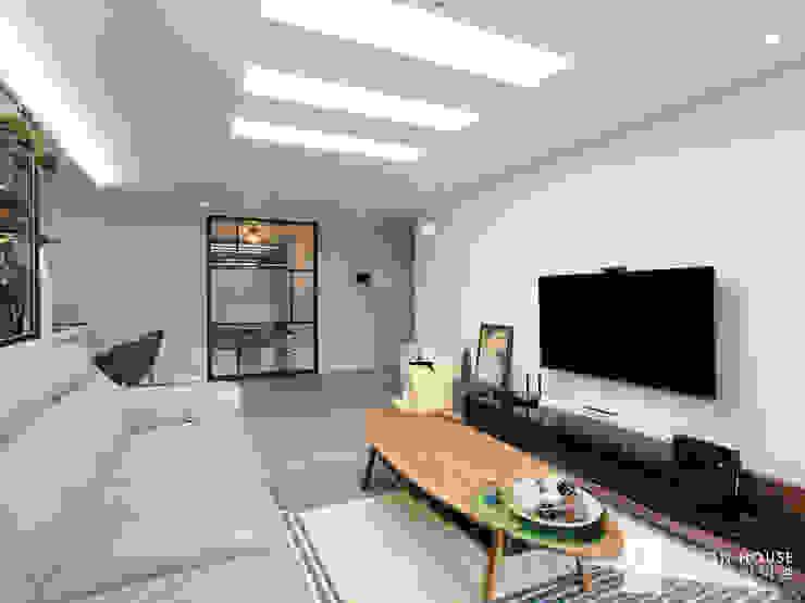 성원상떼빌 34평 -거실, 주방 모던스타일 거실 by 디자인아이엠 모던