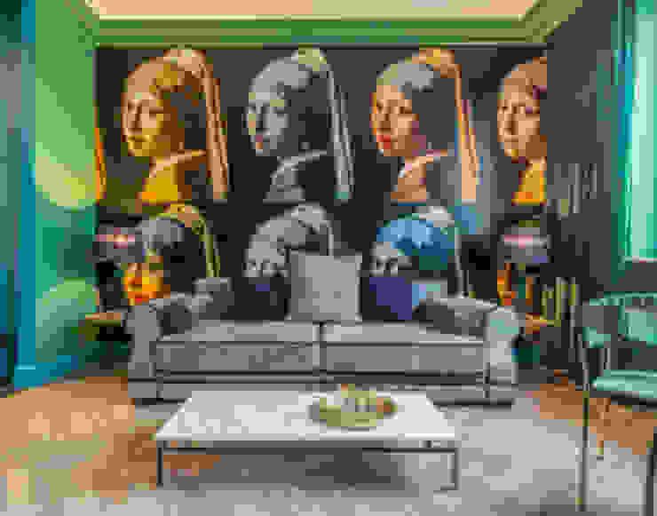 salon green od livinghome wnętrza Katarzyna Sybilska Nowoczesny
