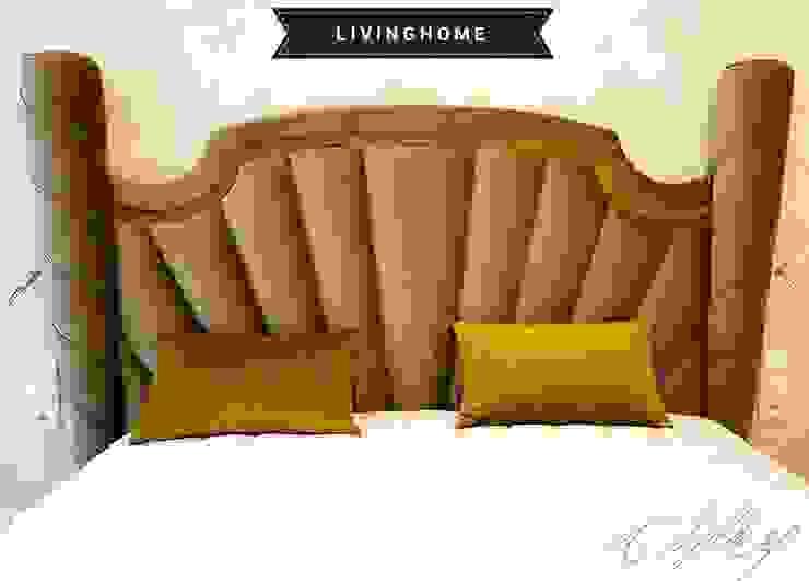 livinghome wnętrza Katarzyna Sybilska Eklektik Tekstil Altın Sarısı