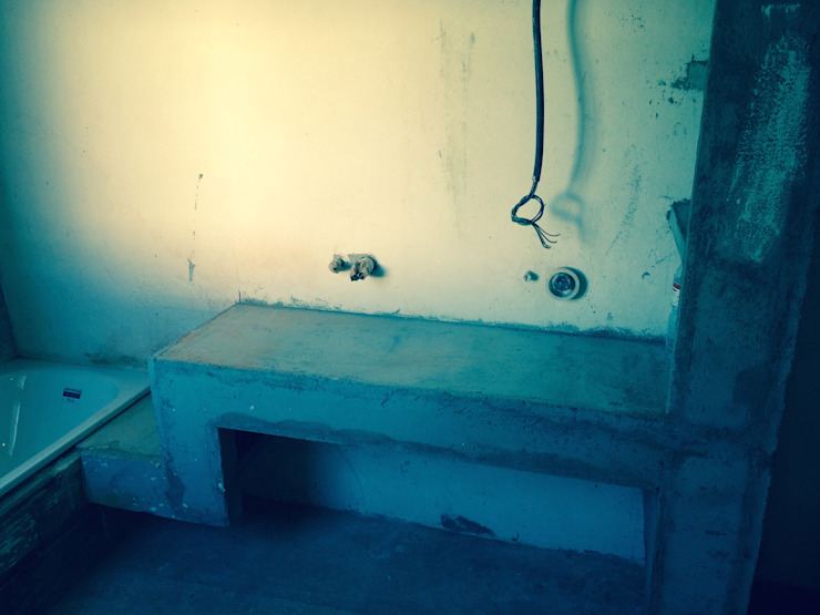Reforma de baño con microcemento en madrid Reformas Raviro