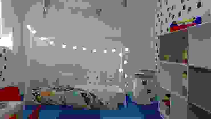 Detalhe cama: Quartos de bebê  por Vanessa Milanez Interiores,Escandinavo